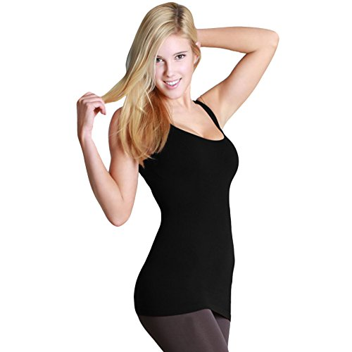 Nikibiki Ribbed Double Fiber Racerback Tank Top Nice Thick 92% Nylon and 8% Spandex (Lycra Racerback Tank Top)