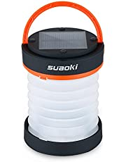 SUAOKI LED Camping Lantern Collapsible Solar Light Night Flashlight Rechargeable Power Bank with USB Port for Outdoor Hiking Fishing Tent Garden SOS Emergency