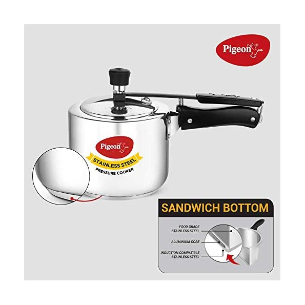 Pigeon-by-Stovekraft-Stainless-Steel-Pressure-Cooker-3-Litre-Inner-Lid-with-Sandwich-Bottom-silver-Medium-14640