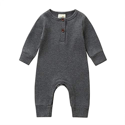 baby girls clothes 6-9 months ribbed onesies baby boys neutral unisex dark gray winter fall clothes outfits rompers ribbed plain long sleeve pants