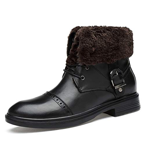 LOVDRAM Stiefel Männer Winter Große Martin Stiefel Zwei Wear Herren Lederstiefel Schneestiefel Outdoor Lederstiefel 35 48 Yards Einzelne Stiefel