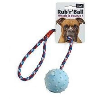 Amazon.com: Ruff N Tumble Rub R Ball Rope & Ball Tug Dog