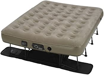 Insta-Bed Ez Queen Raised Air Mattress with NeverFlat