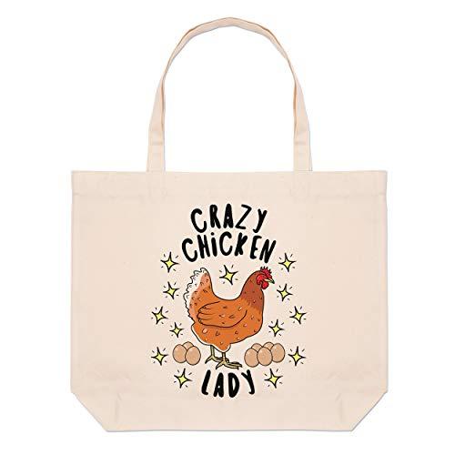 Large Stars Crazy Bag Lady Tote Beach Chicken 4v4Pg
