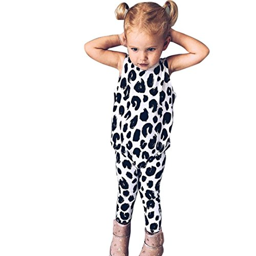 FEITONG Toddler Kids Baby Girls Leopard Romper Jumpsuit (Leopard Sleeper)