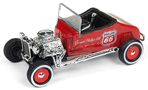 """1927 Ford T-Roadster Phillips 66"""" Orange Metallic Limited Edition to 2,760 Pieces Worldwide 1/64 Diecast Model Car by Johnny Lightning JLSP011"""