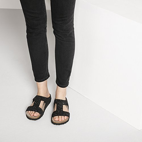 Sandale 1007318 schmal Splashes Silver Charlize Papillio black Veloursleder 7ZwqdvcxB