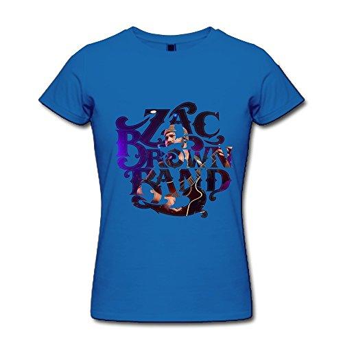 - ZYX Zac Brown Band Logo T Shirt For Women RoyalBlue XL