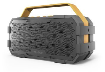 Photive M90 Portable Waterproof Bluetooth Speaker with Built In Subwoofer. 20 Watts Of Power- IPX5 Water Resistant- Rugged.