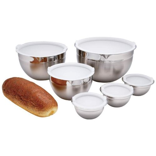 Chef's Secret 12pc T304 Stainless Steel Mixing Bowl Set by Chef's Secret