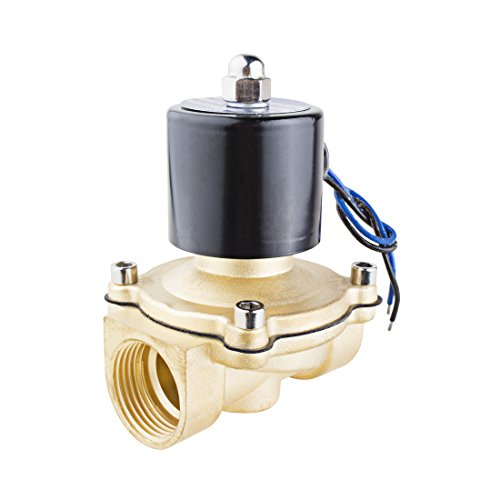 uxcell DC 24V 2W250-25 BSP 1 inches Normally Closed 2 Way N/C Brass Solenoid Valve for Water Air Gas Fuels