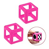 Mandy Fidget Cube Stress Relief Focus Toy Protective Cover Case Hot Pink