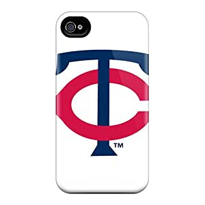 Protector Cell-phone Hard Covers For Apple Iphone 4/4s With Unique Design Stylish Minnesota Twins Image LauraAdamicska