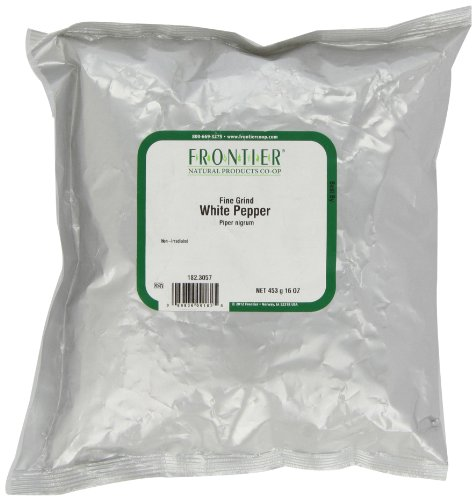 Frontier Pepper, White Fine Grind (40 Mesh), 16 Ounce Bag by Frontier
