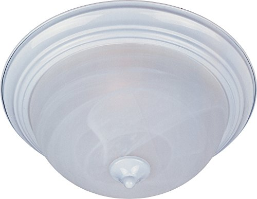 Maxim Lighting 5842MRWT 3 Light Basix Flush Mount Ceiling Light ()