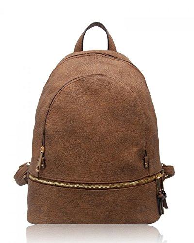 Faux Girl's School Qualtiy 661 hazy Ladies CWS00186A Fashion Leather Handbag Backpack Taupe CWS00186 Bags CWJM841 Rucksack Women's 8dxqwFA