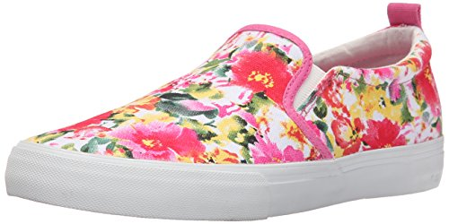 Polo Ralph Lauren Kids Carlee Twin Gore P Fashion Sneaker (Little Kid/Big Kid), Pink Floral, 6 M US Big - Lauren P Ralph