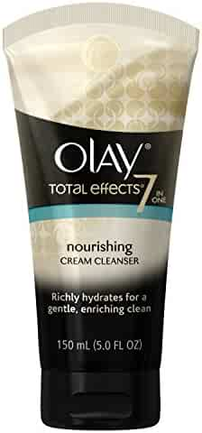 Olay Total Effects Nourishing Cream Facial Cleanser, 5.0 Fluid Ounce  Packaging may Vary