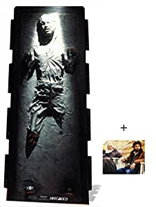 Fan Pack - Han Solo in Carbonite Star Wars Lifesize Cardboard Cutout / Standee / Standup- Includes 8x10 Star Photo