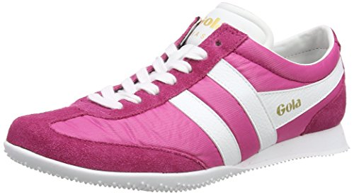 Gola Women's Wasp Sneaker,Fuchsia/White Nylon/Suede,US 10 M