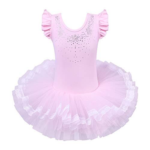 BAOHULU Leotards for Girls Ballet Dance Tutu Skirted Princess Dress 3-8 Years B094_DiamondPink_XXL (Ballerina Cloth)
