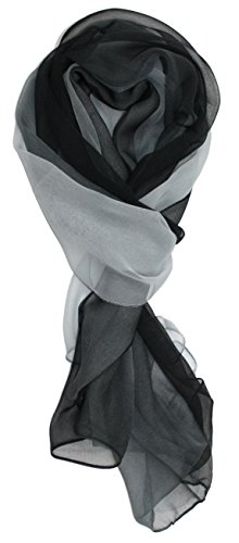 Ted and Jack - Silk Ombre Lightweight Accent Scarf in Grey and Black -