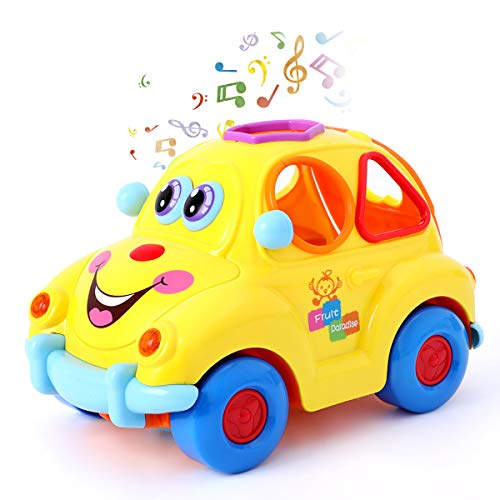 Baby Car Toys With Lights And Sounds,Musical Fruit Shape Sorter Car,Educational Toy for Toddlers 1 2 3 Years Old Children