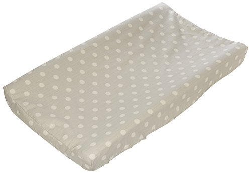 Glenna Jean Contessa Changing Pad Cover, Grey Dot