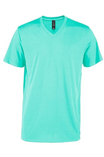 (Casual Garb Men's V-Neck T Shirt Short Sleeve Tee T-Shirts for Men Elevate Series Celadon XX-Large)