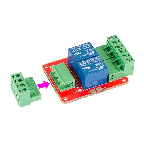 41jFDBfy7QL amazon com sunfounder dc 5v power supply 2 channel relay module Relay Switch Wiring Diagram at n-0.co