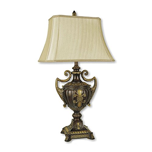 Ore International Urn - ORE International 8202 30-Inch Urn-Shape Table Lamp, Antique Gold