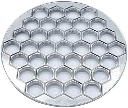 molde de aluminio para ravioli herramientas DIY de cocina para Ravioli Pelmeni Kamenda Herramientas de molde para ravioli con 37 agujeros para hacer ravioli hacer ravioli de pasteler/ía