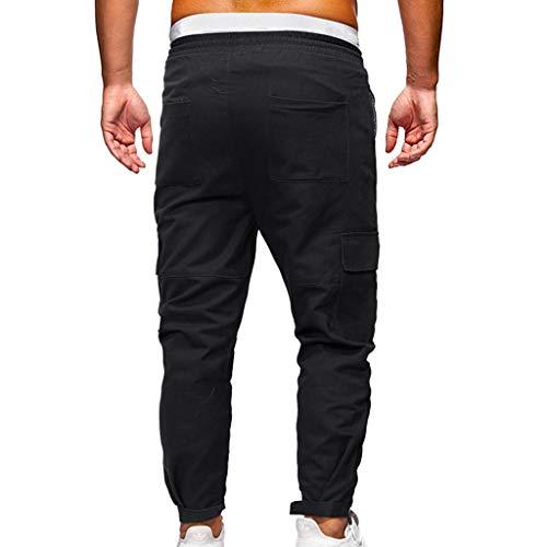 Pantalon La Grande Et Hommes Confortable Sport Les Noir Kpilp Zt Loisirs L 887 Pour Jeans Décoration De Décontracté Mode Multi poches 5xl Taille tqE7UE