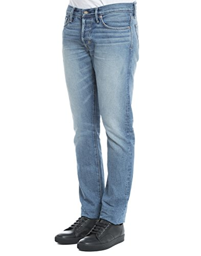 Tom Ford Homme BMJ11TFD001B51 Bleu Claire Coton Jeans