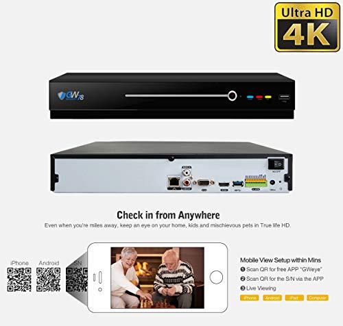 GW 8 Channel 8MP UltraHD 4K (3840x2160) Audio & Video