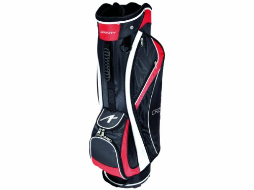 AFFINITY CRZ 9.5 Golf Cart Bag, Black/Red/White by Affinity