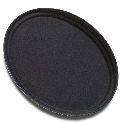 Carlisle (3100GR004) Griptite Serving Trays, Set of 6 (31-1/2-Inch x 23-1/2-Inch, Fiberglass, Black)
