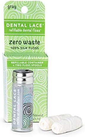 Dental Lace Silk Dental Floss mit natürlichen Mint Aromatisierung | Inklusive 1 nachfüllbare Recycelbar Spender...