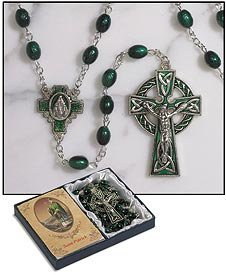Check Out This Irish Rosary with St. Patrick Holy Card and Blessing