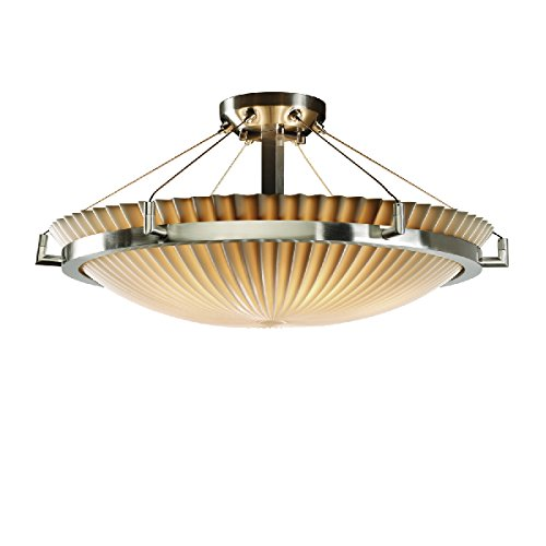 (Justice Design Group Lighting PNA-9682-35-PLET-NCKL-LED5-5000 Porcelina-Ring 27