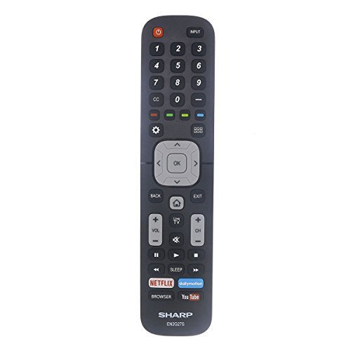 Original Sharp EN2G27S TV Remote Control with Netflix, YouTube, and Browser Buttons (Best Price For 70 Inch Sharp Tv)