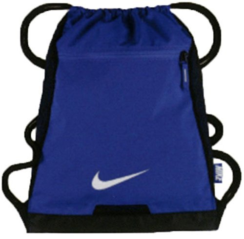 NIKE Alpha Adapt Team Training Drawstring Gymsack Backpack 600 Denier Sport Bookbag (University Blue/ with Signature White Swoosh) (600 Backpack Denier)