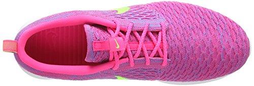 Nike Flyknit Rosherun, Sneaker Basse Uomo Rosa (Pink (Pink Flash/Flash Lime/Clb Pink))