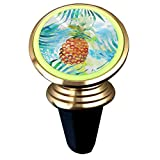 Magnetic Car Holder Rotation Universal Watercolor Pineapple Custom Adjustable 360˚ Rotation Universal Car Mount Cell Phone Stand for Phone X/6/6s/7/8/8 Plus/7