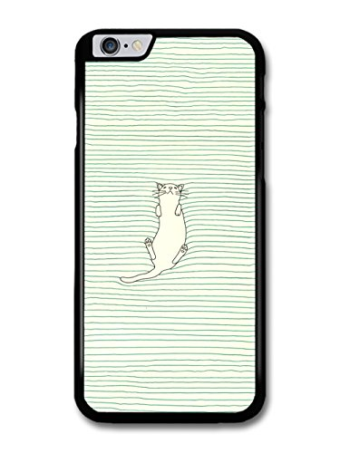 Cute Cat Sleeping In Lines Bed Illustration case for iPhone 6 Plus 6S Plus