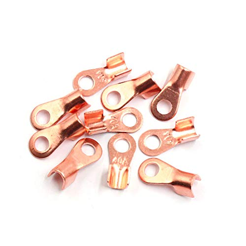Sourcingmap 10pcs 40A Copper Ring Terminals Lug Battery Cable Connector:
