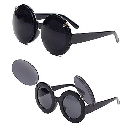 NNDA CO Fashion Retro Mickey Mouse Flip Up Round Shade - That Wear Glasses Cartoons
