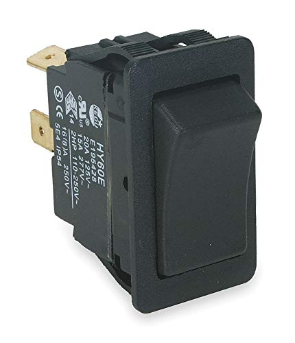 Power First Rocker Switch, Contact Form: DPDT, Number of Connections: 6, Terminals: 0.250'' Quick Connect Tab - 2LNG1 ( Pack of 2 ) by Power First
