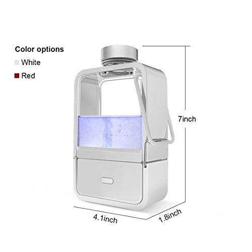 Gosoit Water Ionizer Hydrogen Alkaline Water Bottle,Hydrogen Water Generator Maker Machine ,Rechargeable Water Bottle Filter Purifier for Anti-aging ,Boost Immunity,BPA-free, White by GOSOIT (Image #1)