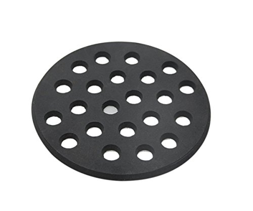 Green Cast Iron Round Grill (WANRAY Big Green Egg Cast Iron Fire Grate 6.5